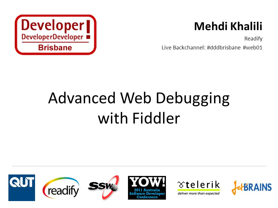 Advanced Web Debugging