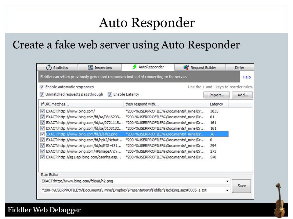 Auto Responder Create a fake web server using Auto Responder