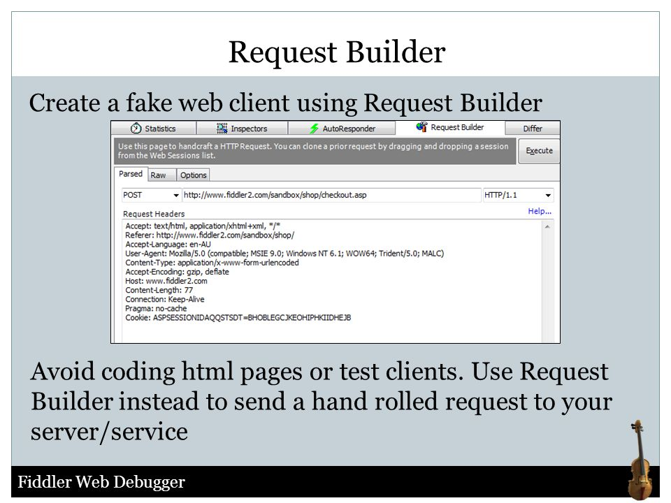 Request Builder Create a fake web client using Request Builder