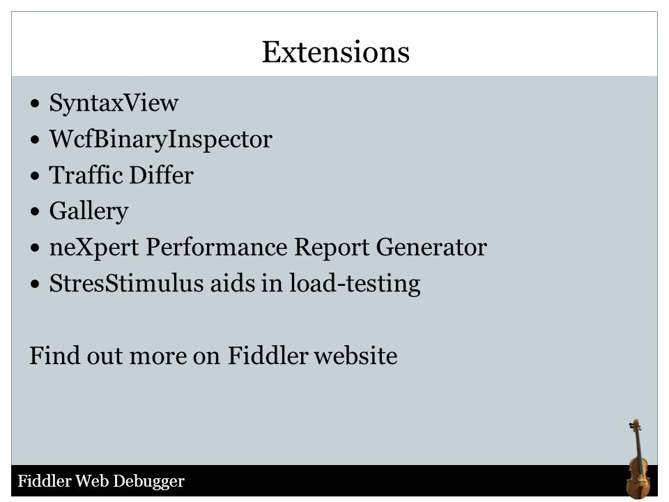 Extensions SyntaxView WcfBinaryInspector Traffic Differ Gallery