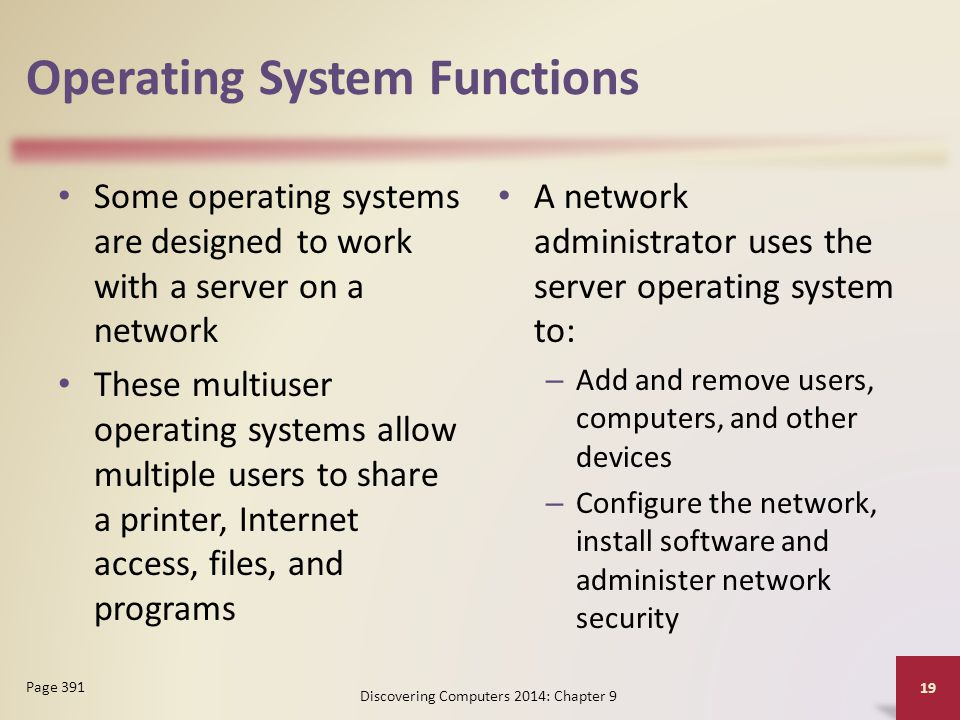 network server operating systems administration Network and computer systems administrators are responsible for the day-to-day operation of these networks they organize, install, and support an organization's computer systems, including local area networks (lans), wide area networks (wans), network segments, intranets, and other data communication systems.