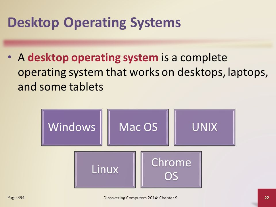 Desktop Operating Systems