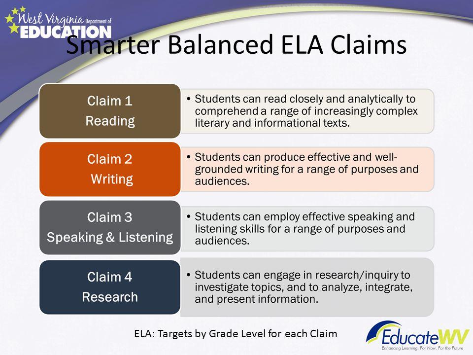 Smarter Balanced ELA Claims