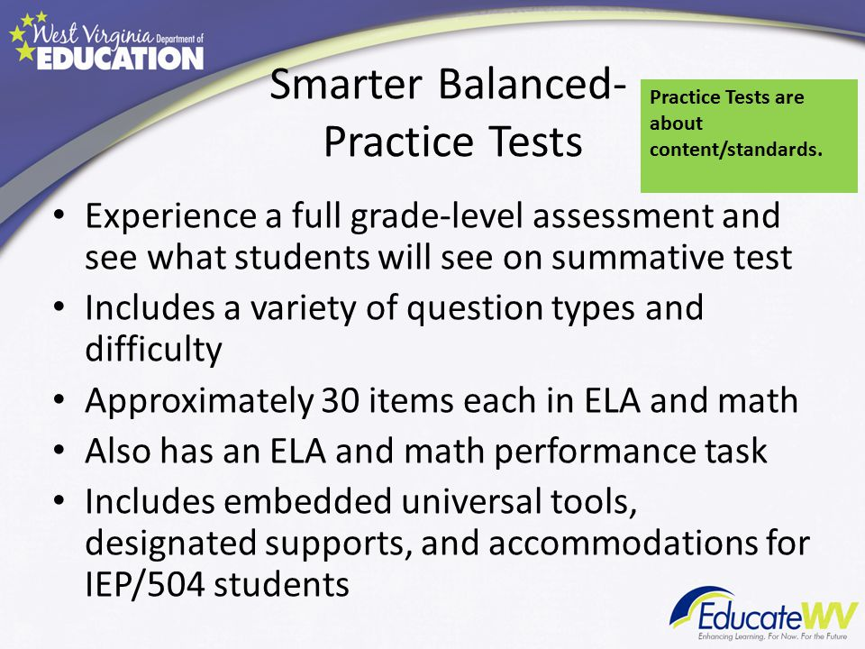 Smarter Balanced- Practice Tests