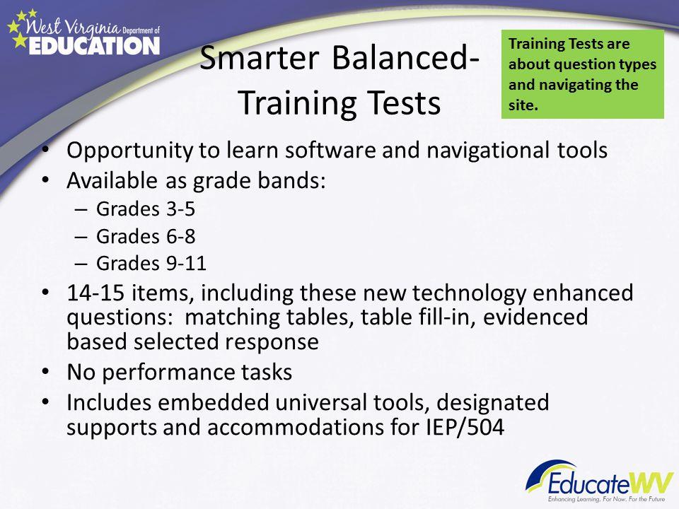 Smarter Balanced- Training Tests