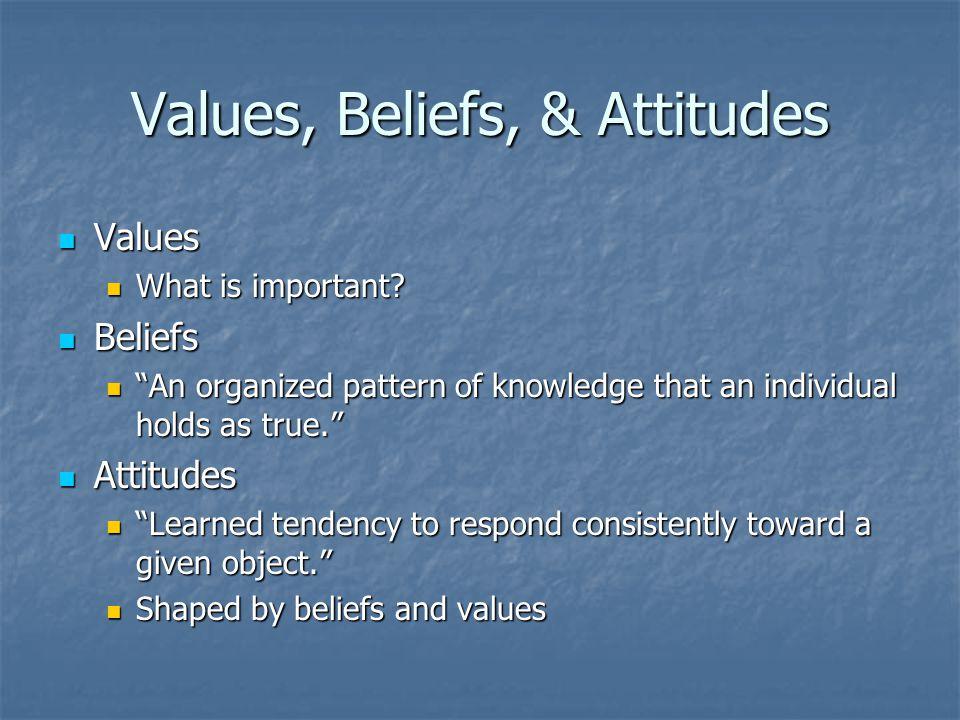 Values, Beliefs, & Attitudes