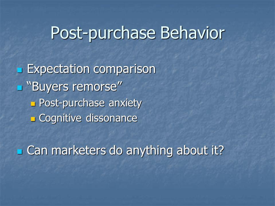 Post-purchase Behavior