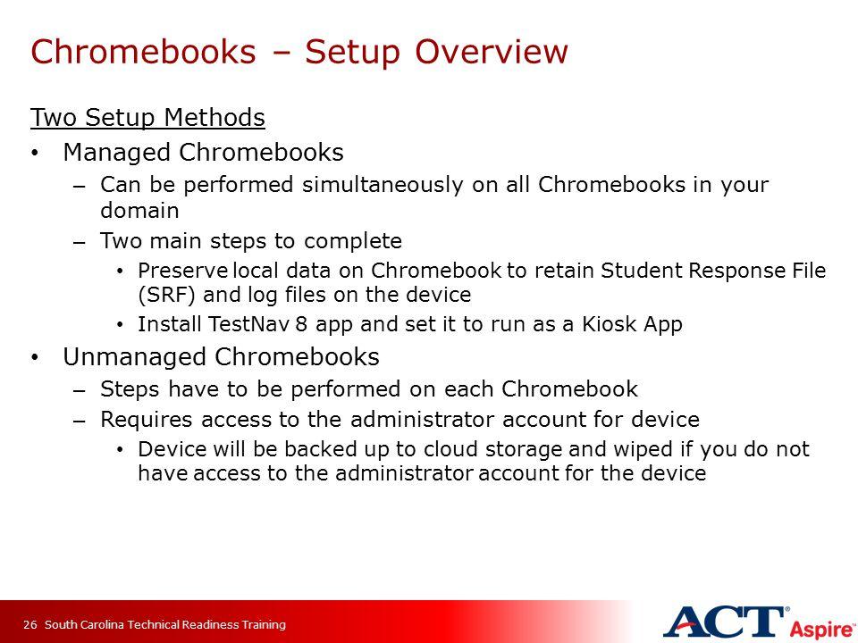 Chromebooks – Setup Overview