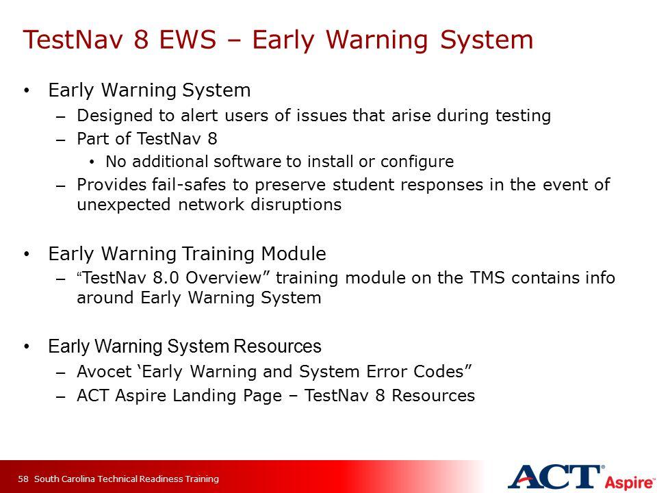 TestNav 8 EWS – Early Warning System