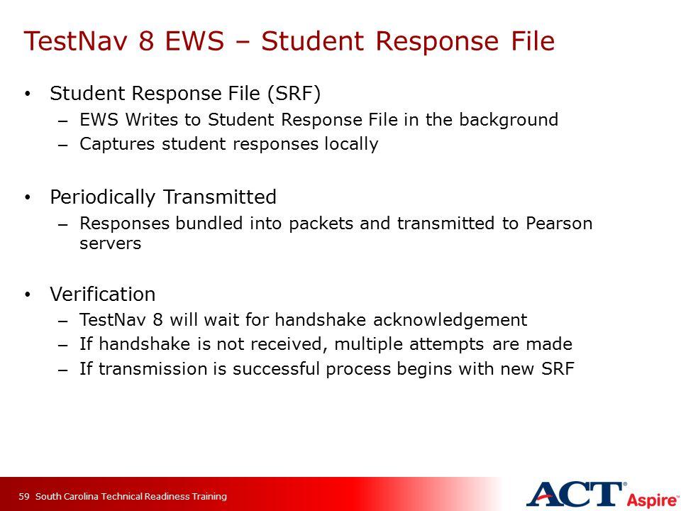 TestNav 8 EWS – Student Response File