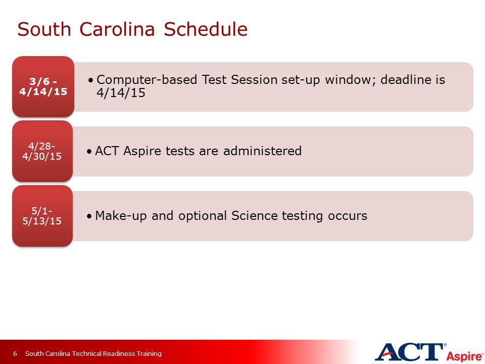 South Carolina Schedule