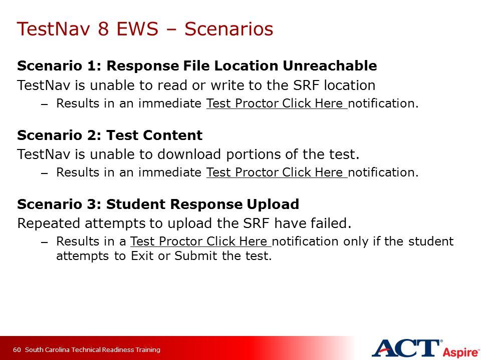 TestNav 8 EWS – Scenarios