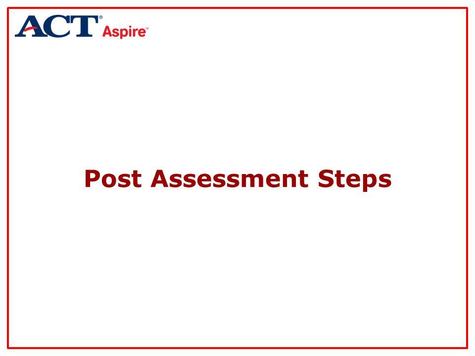 Post Assessment Steps