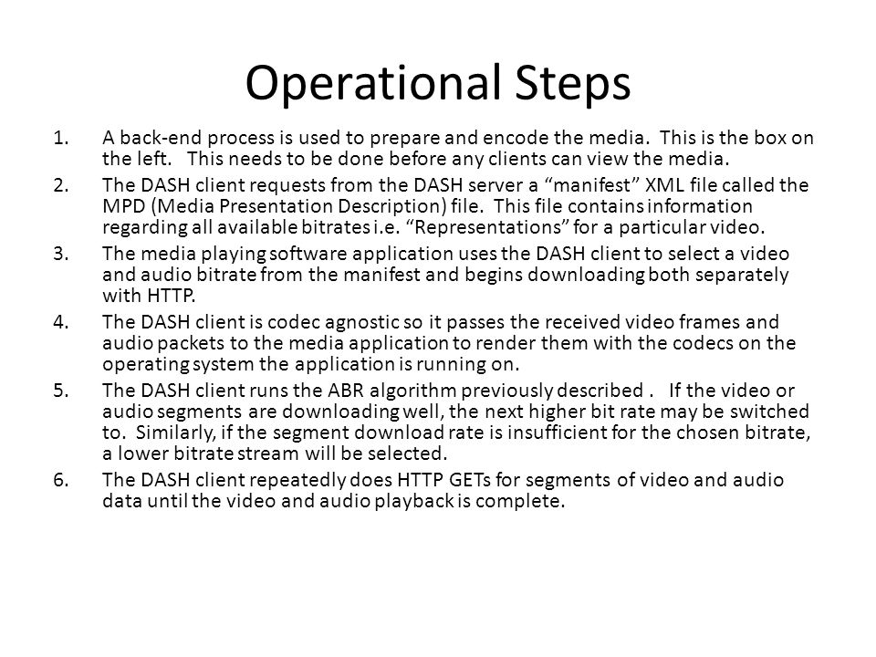 Operational Steps