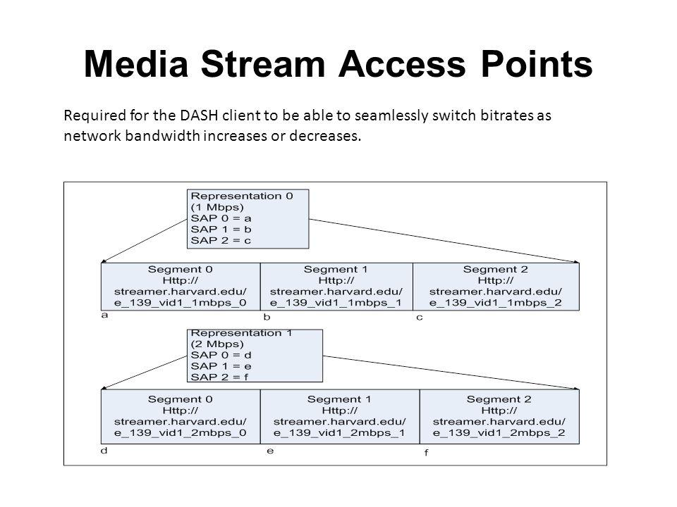 Media Stream Access Points