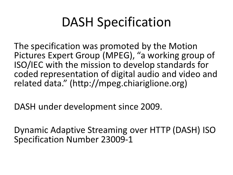 DASH Specification