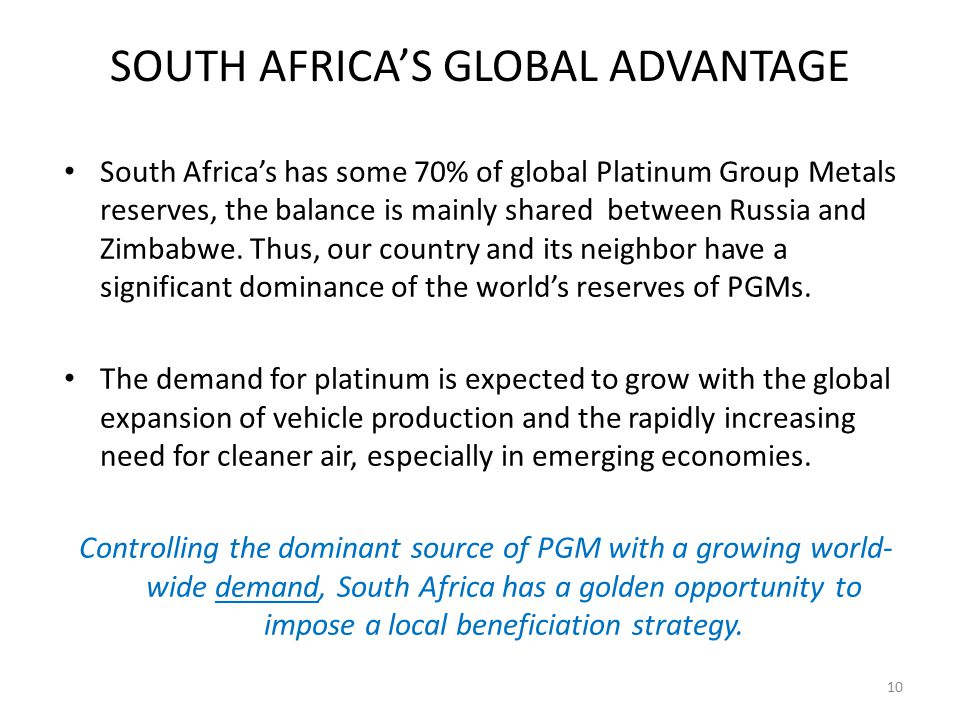 SOUTH AFRICA'S GLOBAL ADVANTAGE