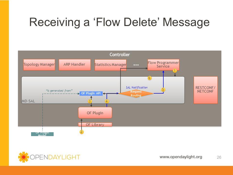 Receiving a 'Flow Delete' Message