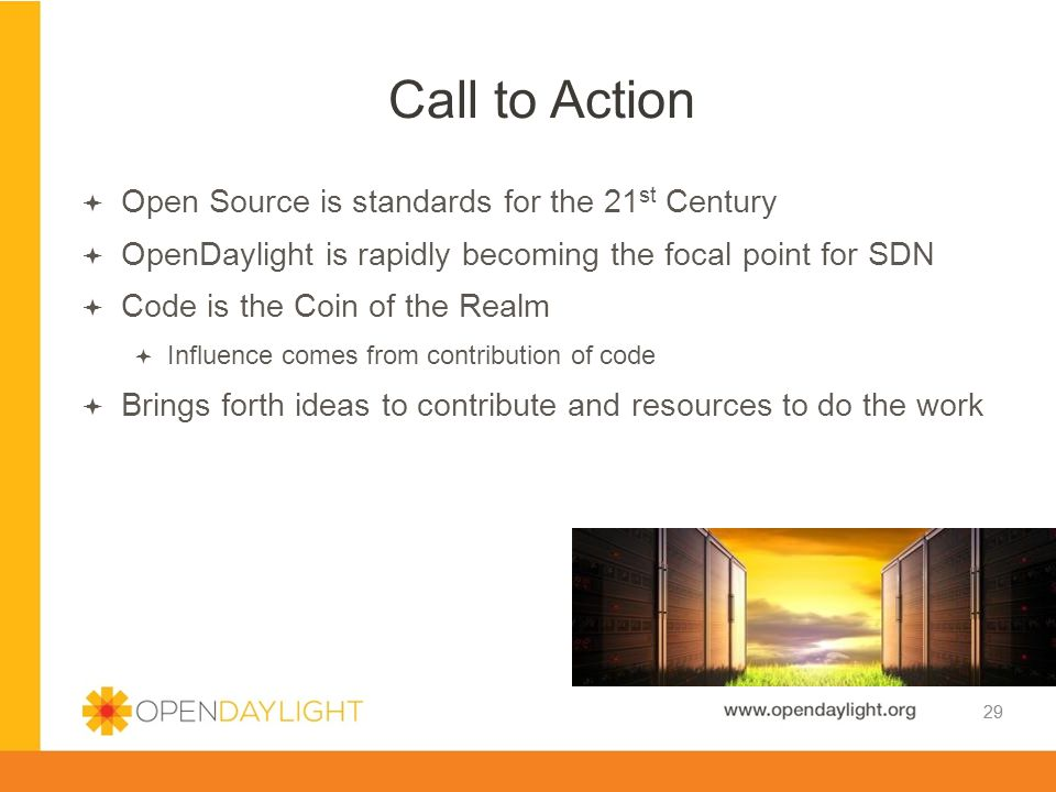 Call to Action Open Source is standards for the 21st Century