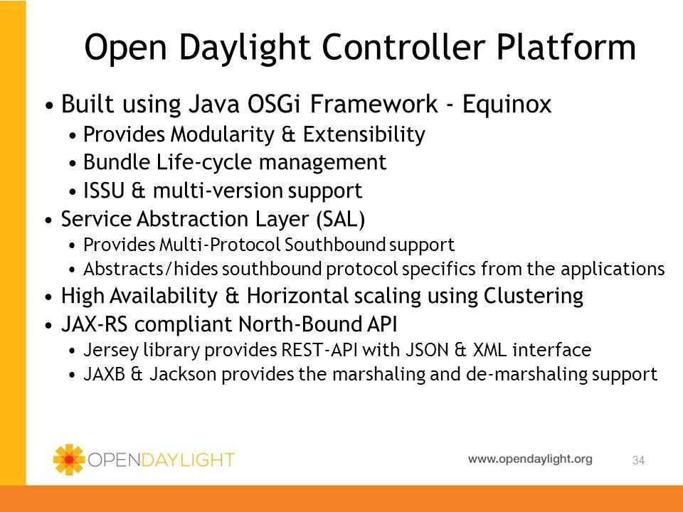 Open Daylight Controller Platform