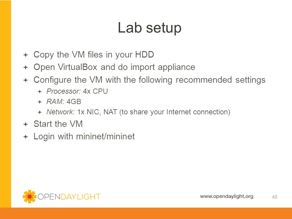 Lab setup Copy the VM files in your HDD