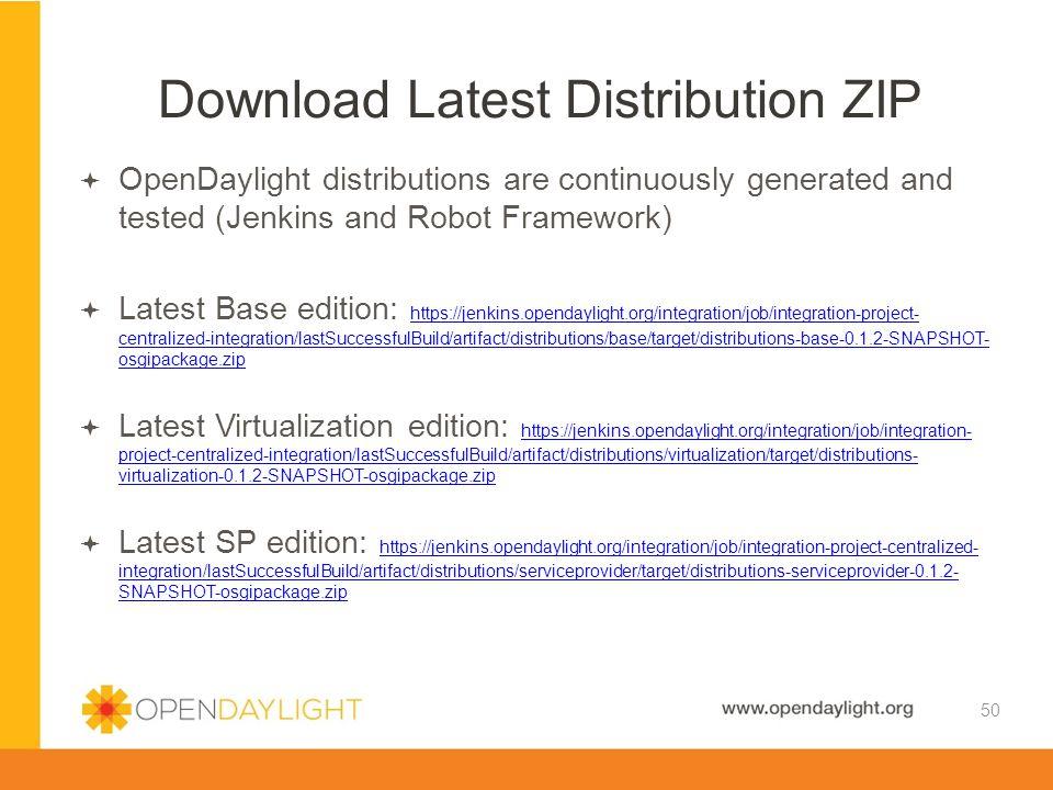 Download Latest Distribution ZIP