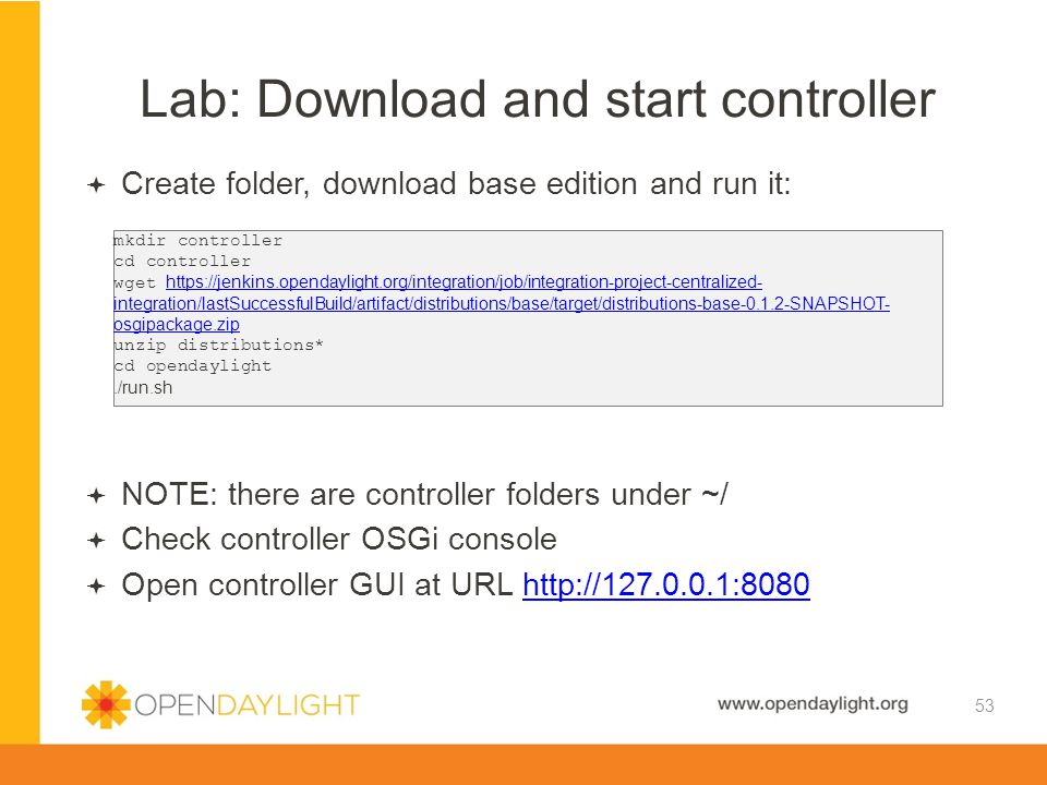 Lab: Download and start controller