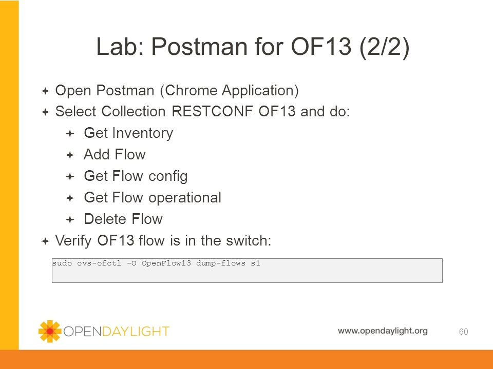 Lab: Postman for OF13 (2/2) Open Postman (Chrome Application)