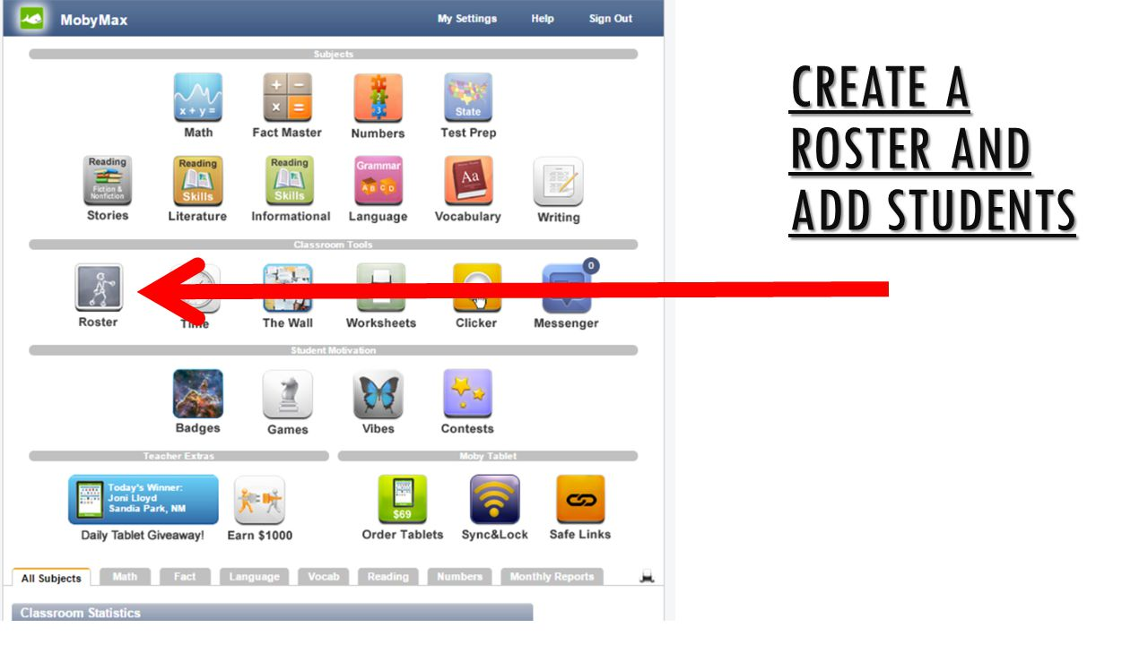 Create a roster and add students