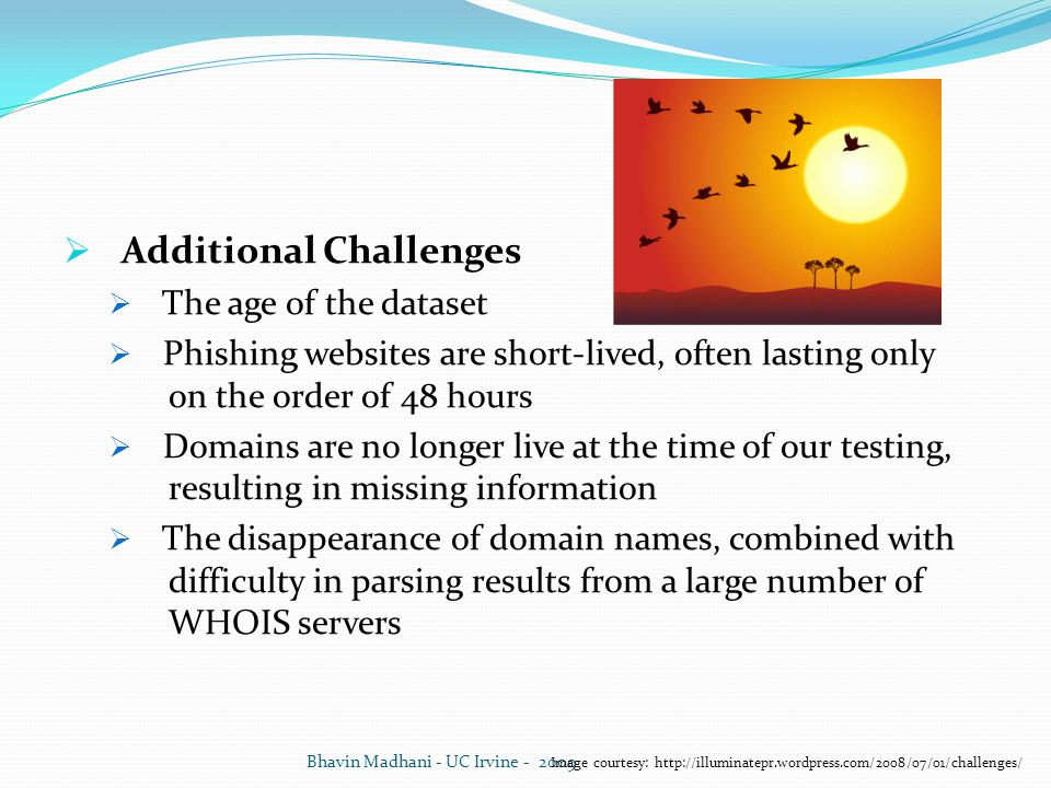 Additional Challenges