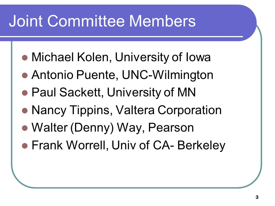 Joint Committee Members