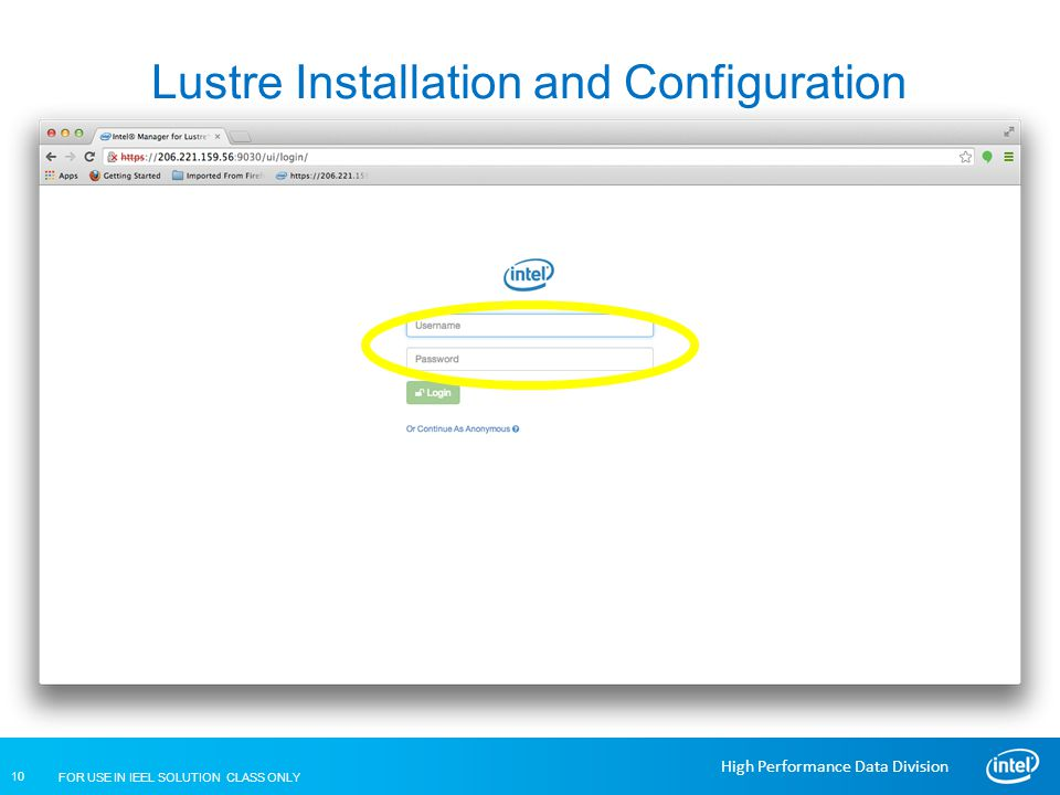 Lustre Installation and Configuration