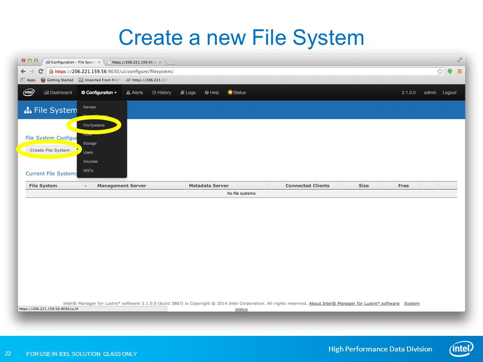 Create a new File System