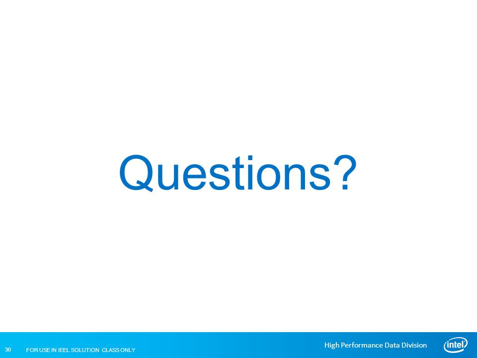 Questions End of Session 04 – Lustre Installation and Configuration