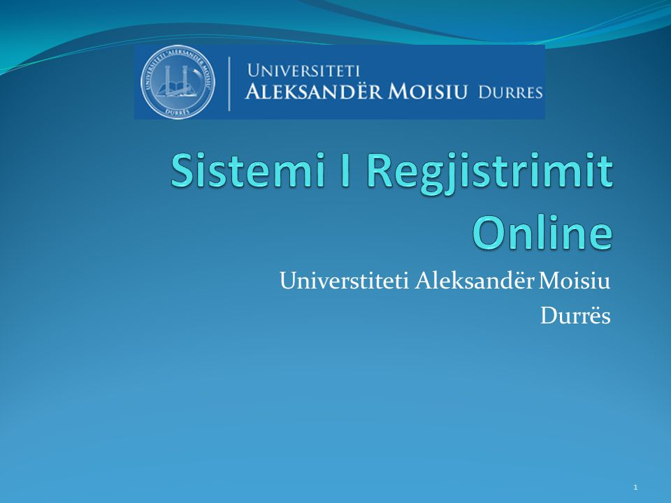Sistemi I Regjistrimit Online
