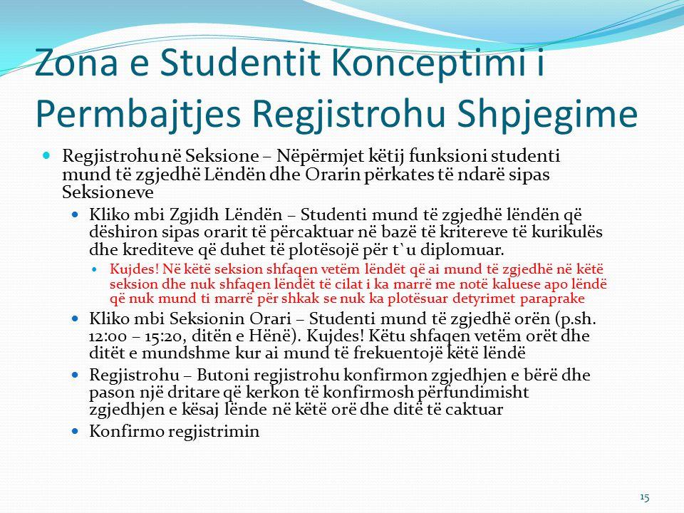 Zona e Studentit Konceptimi i Permbajtjes Regjistrohu Shpjegime