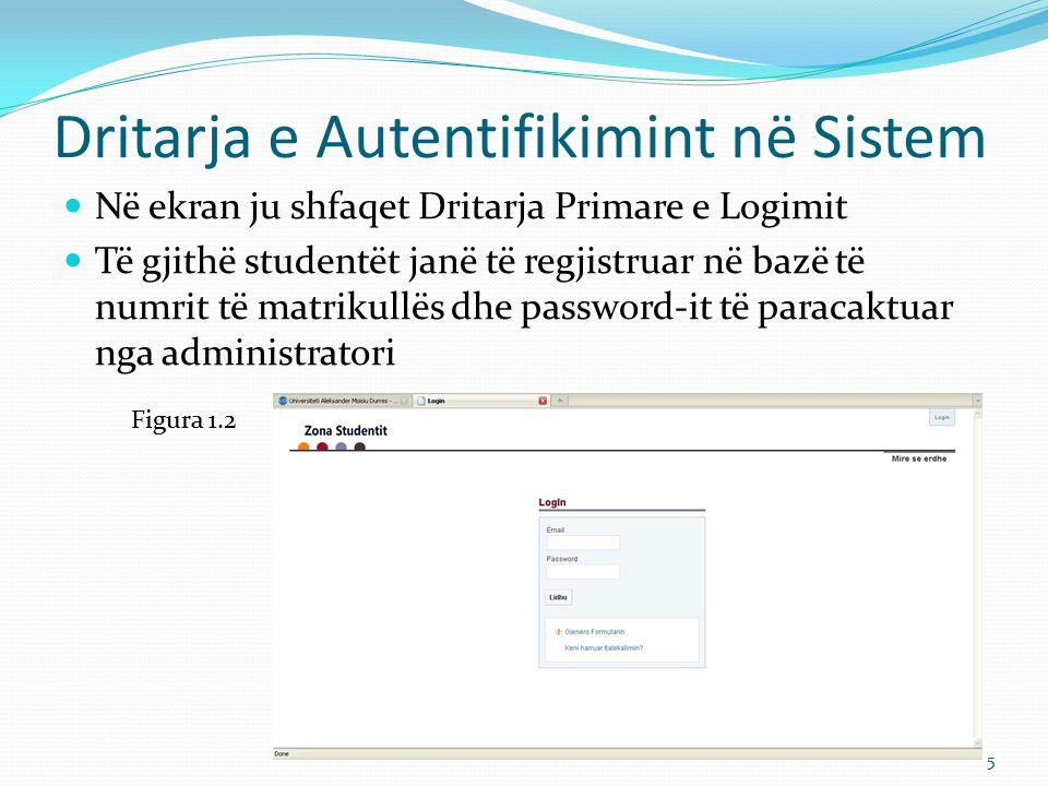 Dritarja e Autentifikimint në Sistem
