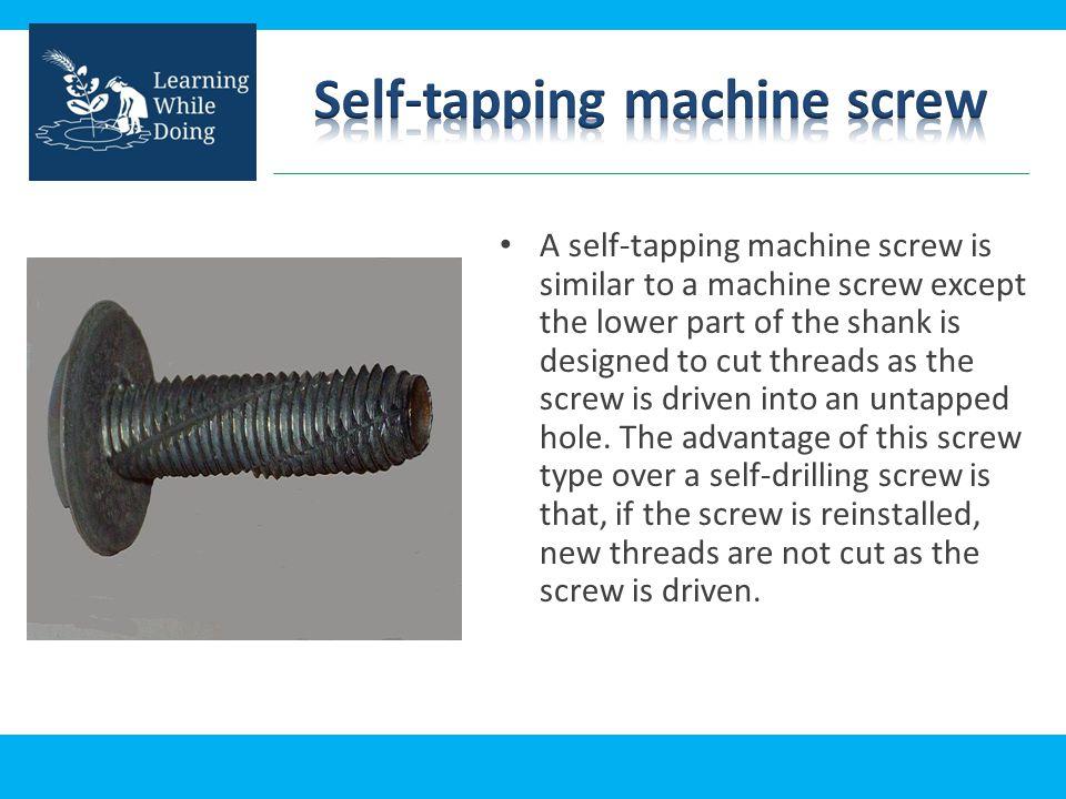 Self-tapping machine screw