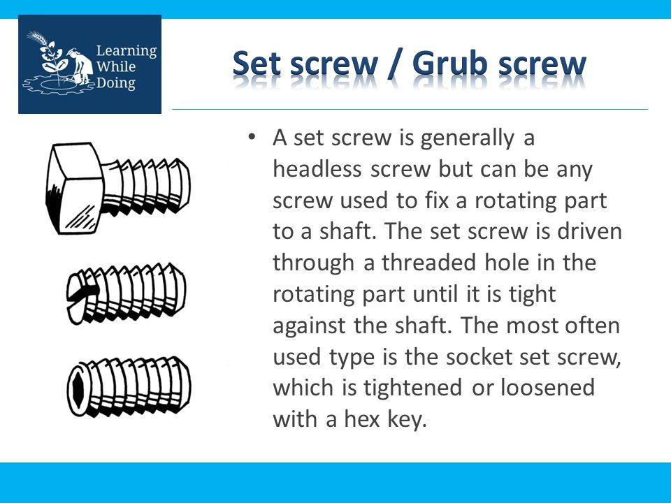 Set screw / Grub screw