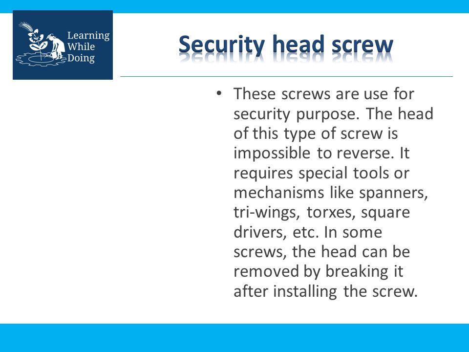 Security head screw