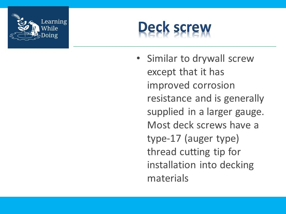 Deck screw