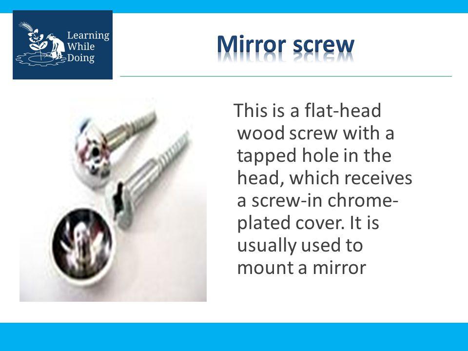 Mirror screw