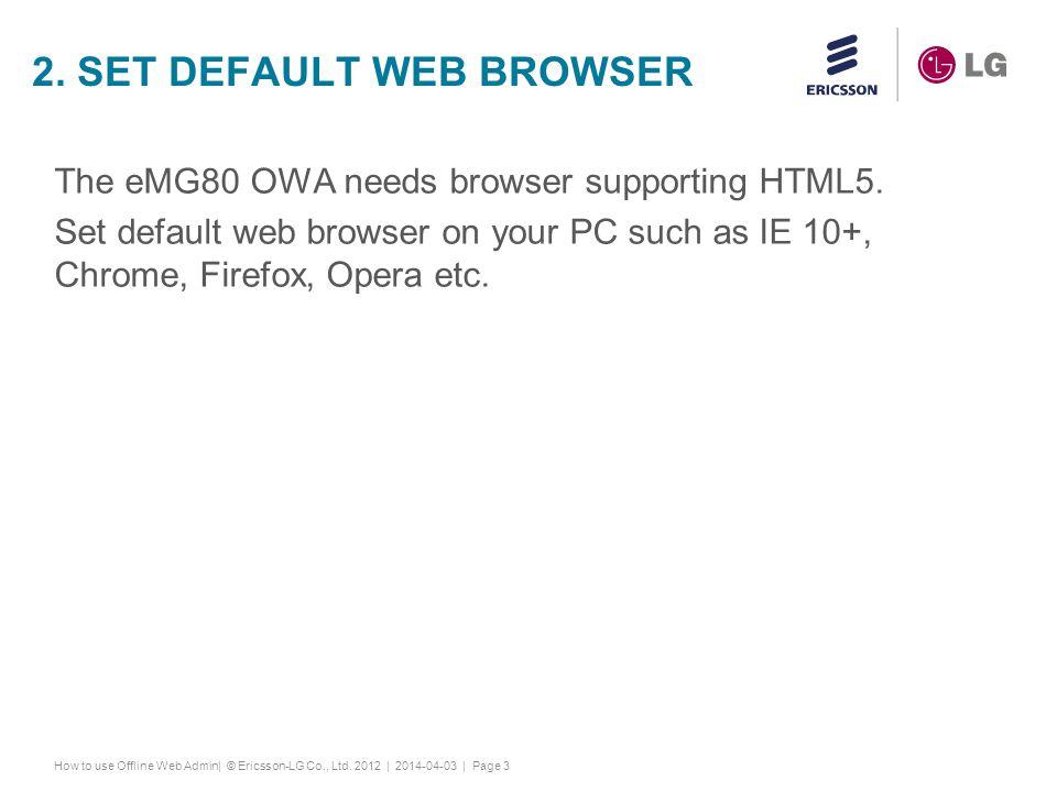 2. Set default web browser