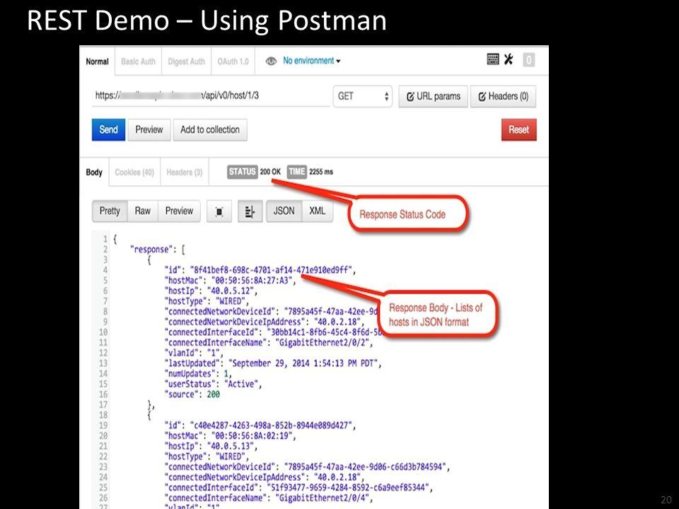 REST Demo – Using Postman