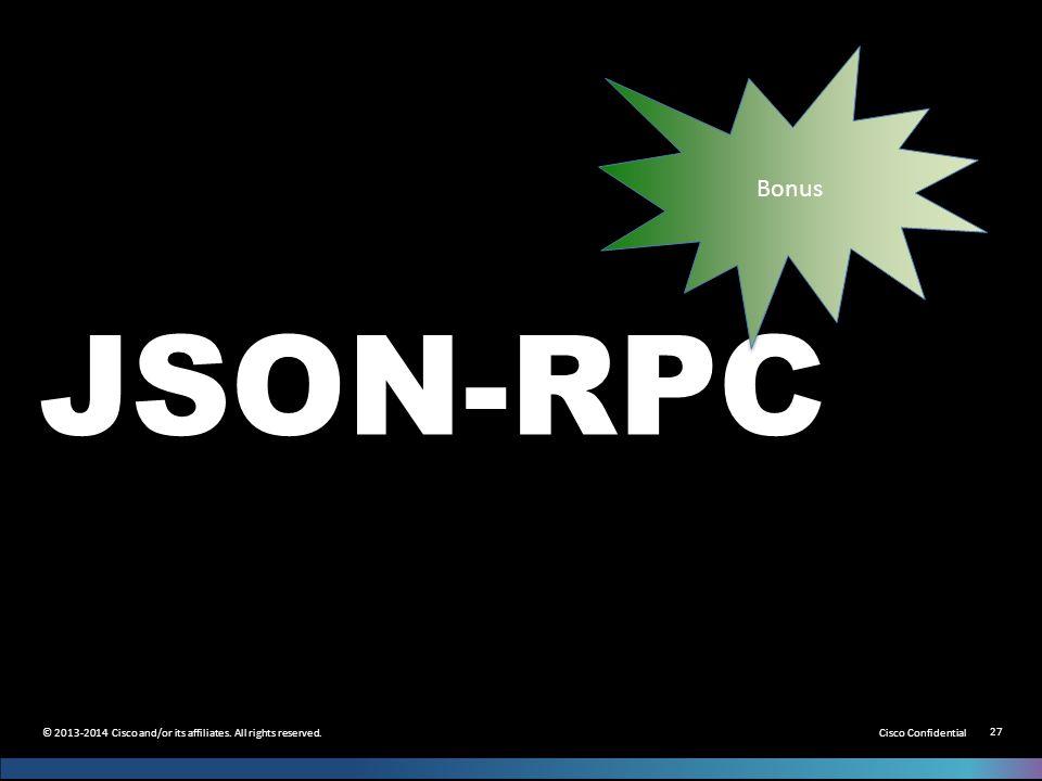 Bonus JSON-RPC