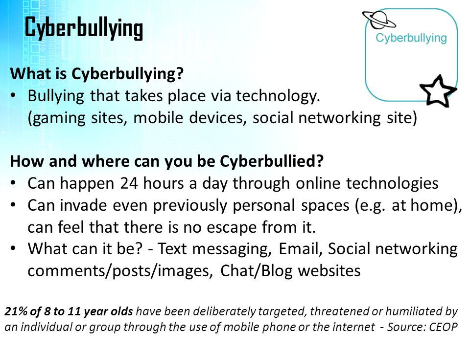 Cyberbullying What is Cyberbullying