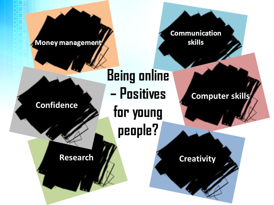 Being online – Positives for young people