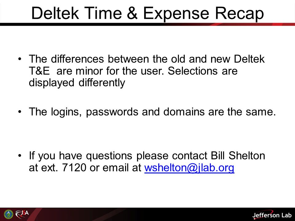 Deltek Time & Expense Recap