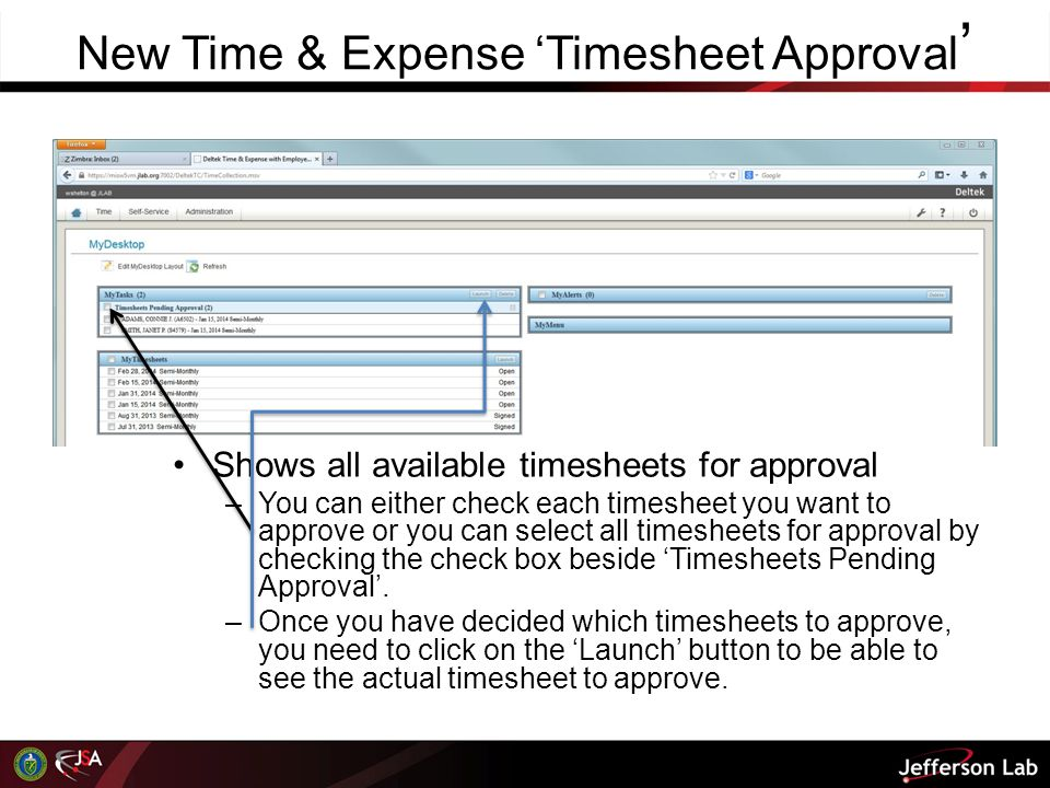 New Time & Expense 'Timesheet Approval'
