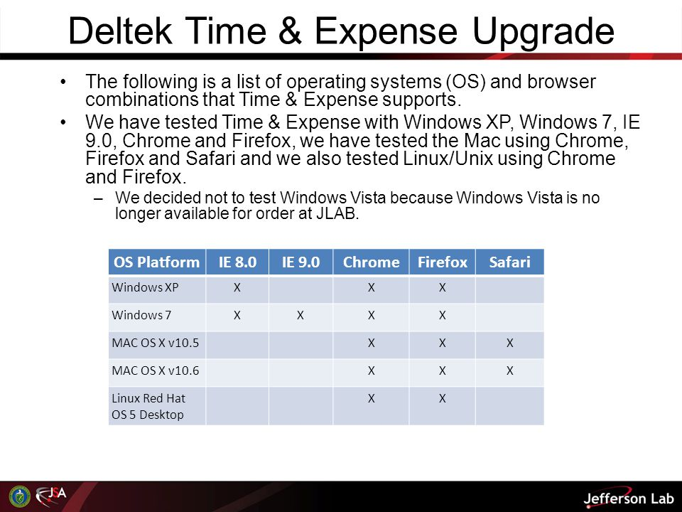 Deltek Time & Expense Upgrade